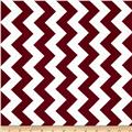 Riley Blake Medium Chevron Maroon/White
