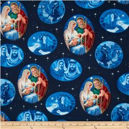 First Noel Nativity Metallic Navy