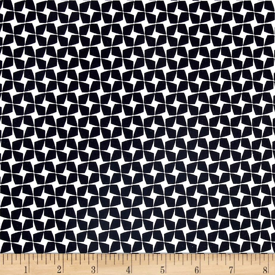 Avalana Jersey Knit Geometric Black/White Fabric