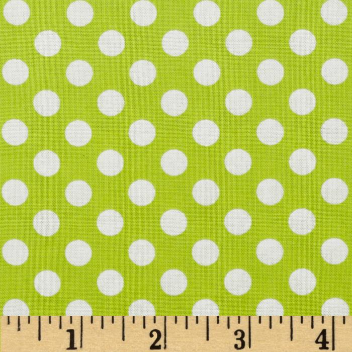 Kaufman Spot On Medium Dot Chartreuse