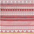 Telio Picasso Poplin Patterned Stripe White/Red