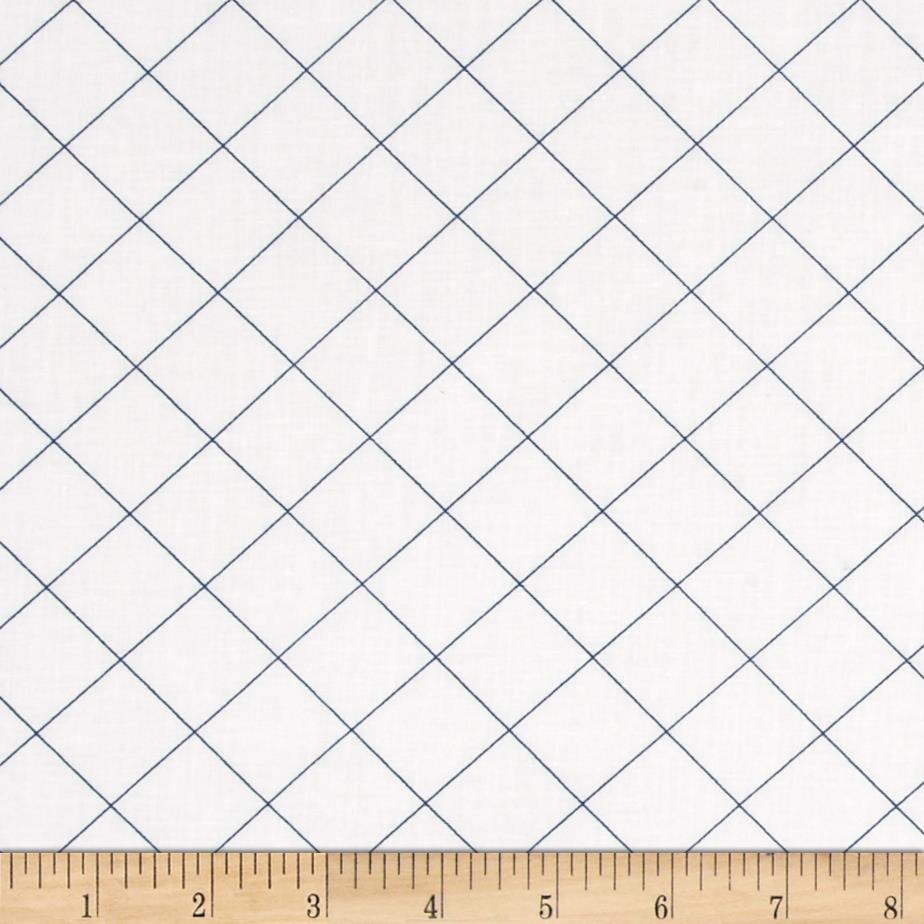 Doe 108 In. Wide Quilt Back Trellis Blue