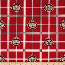 Collegiate Cotton Flannel Ohio State University Plaid