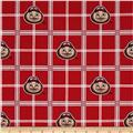 Collegiate Cotton Broadcloth Ohio State University Plaid