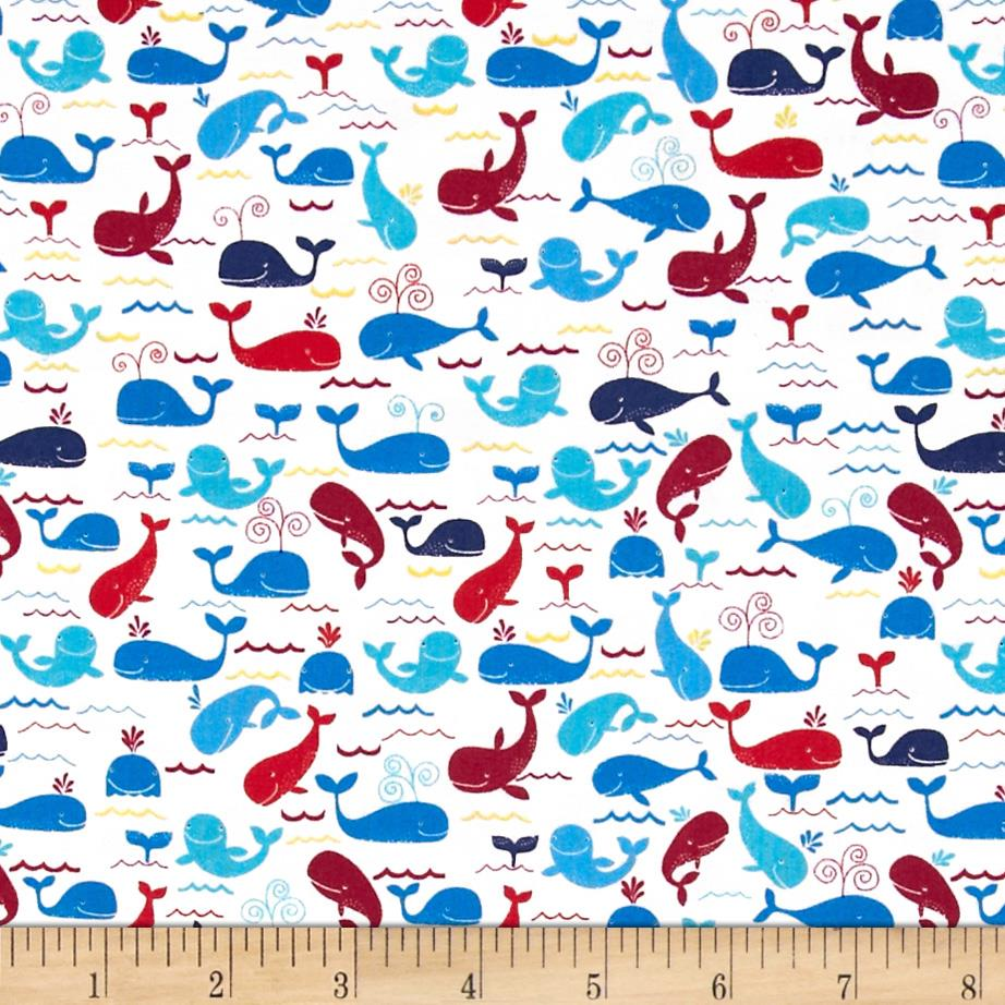 Timeless Treasures Mini Whales White