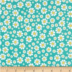 Penny Rose Shabby Strawberry Daisy Teal