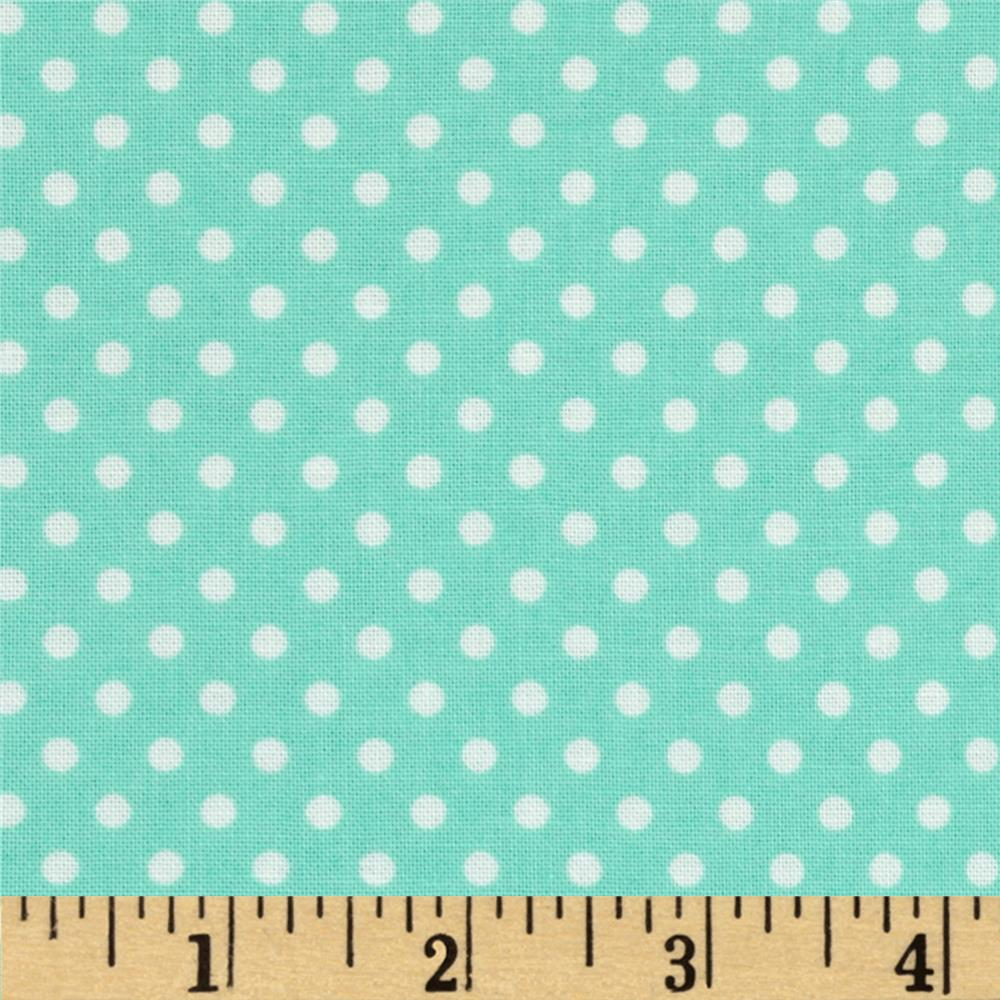 Moda Dottie Small Dots Aqua