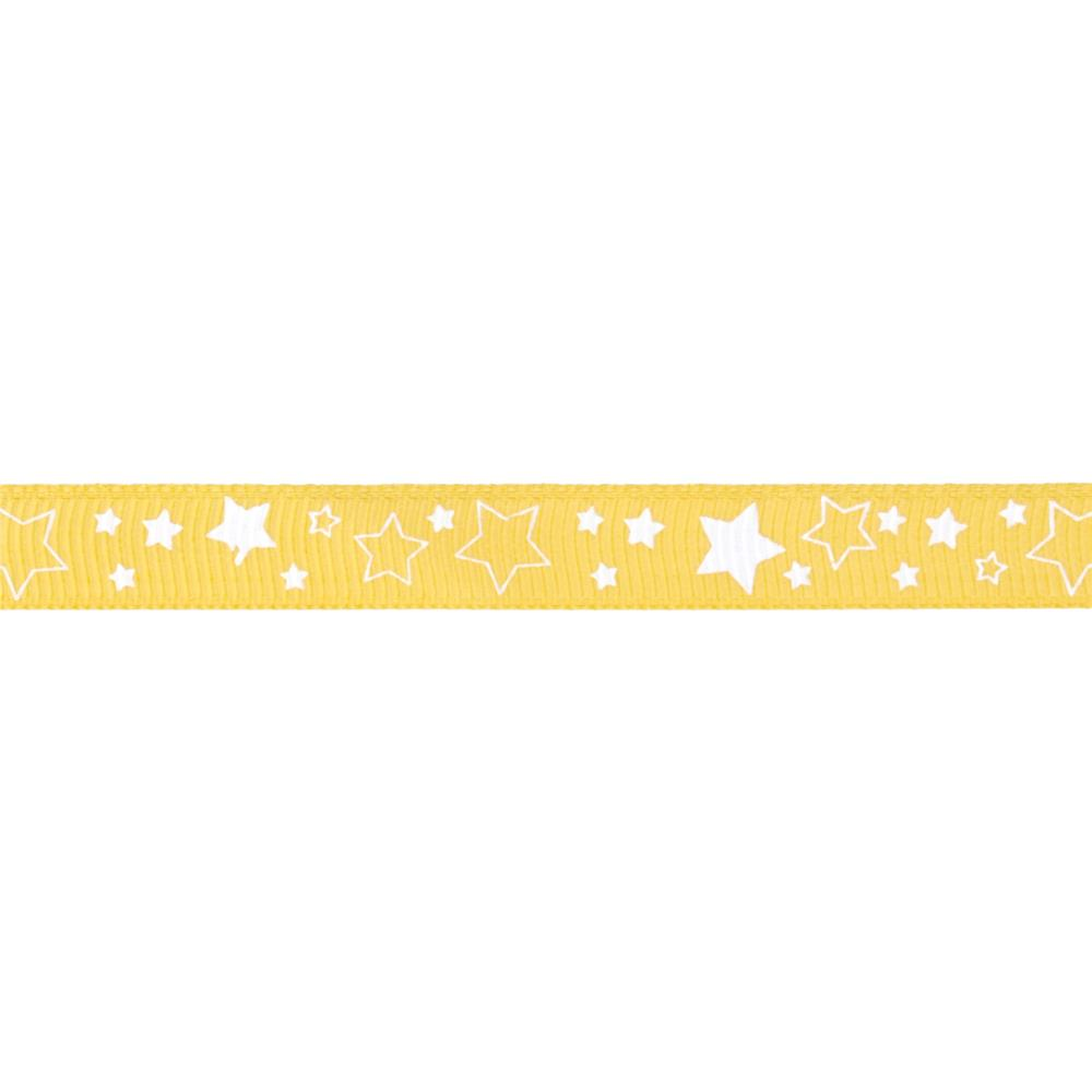 "Riley Blake 3/8"" Grosgrain Ribbon Stars Yellow"