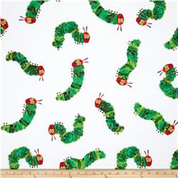The Very Hungry Caterpillar Flannel Tossed Caterpillar White/Green