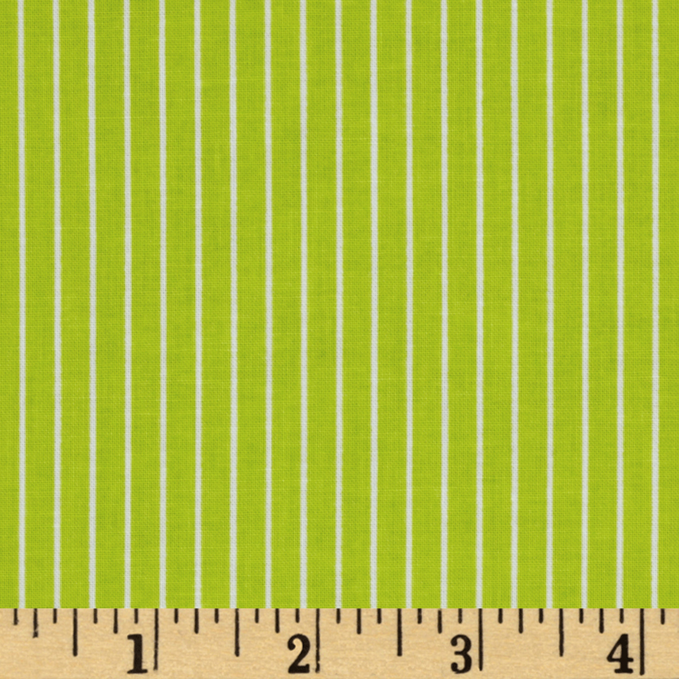 Citrus Pinstripe Lime Fabric