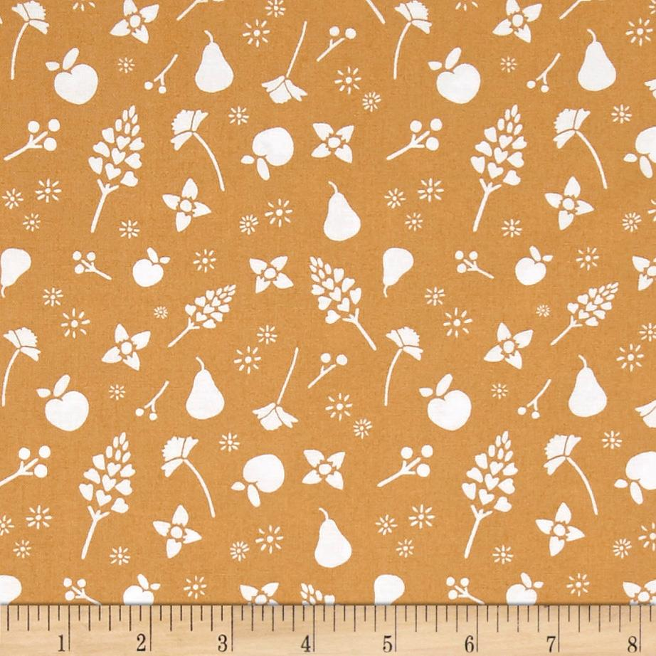 Penny Rose Five & Dine Floral Yellow Fabric