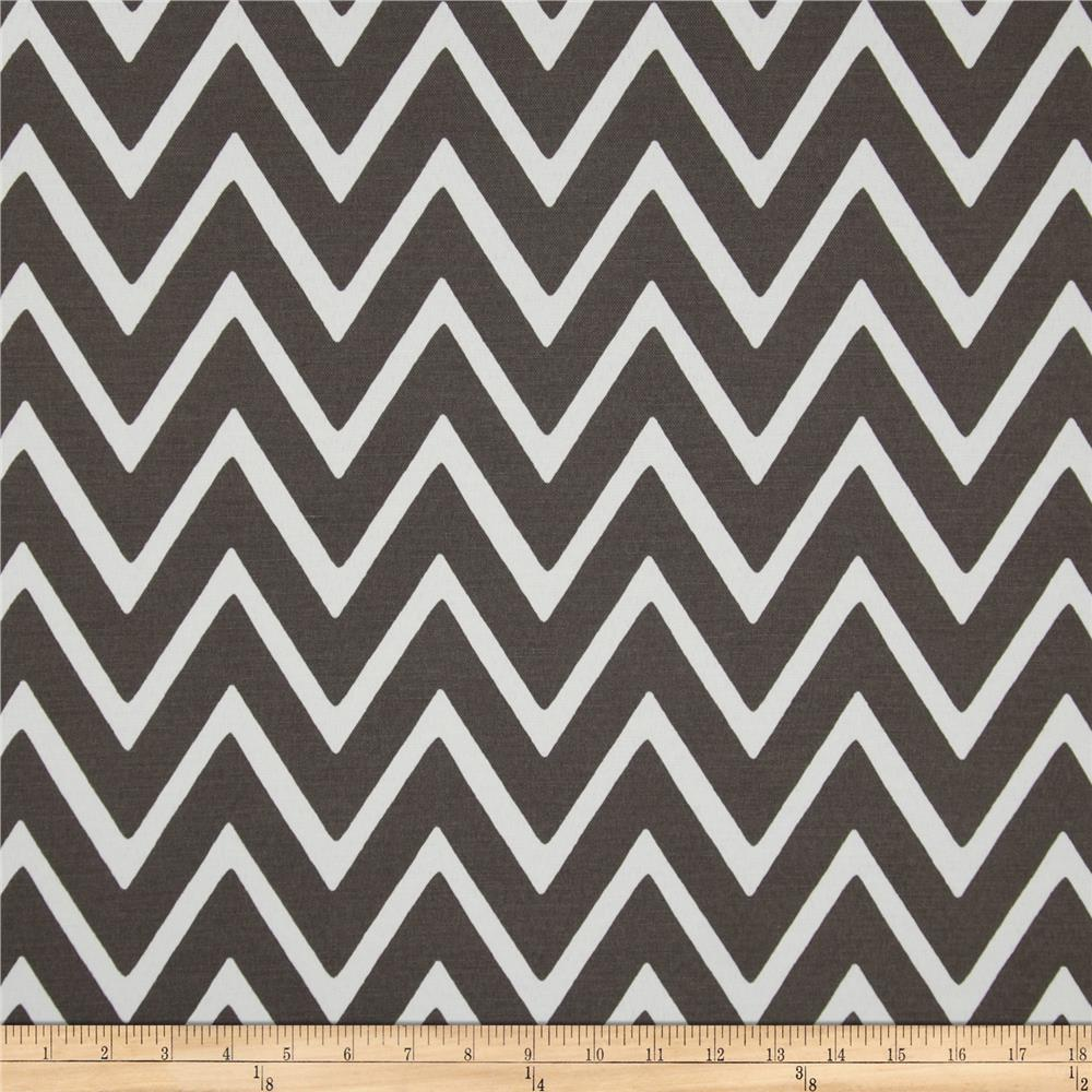 Swavelle/Mill Creek Indoor/Outdoor Zapallar Chevron  Charcoal