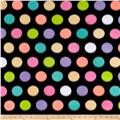 Polar Fleece Print Fun Dot Black