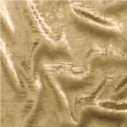 Crushed Charmeuse Satin Taupe