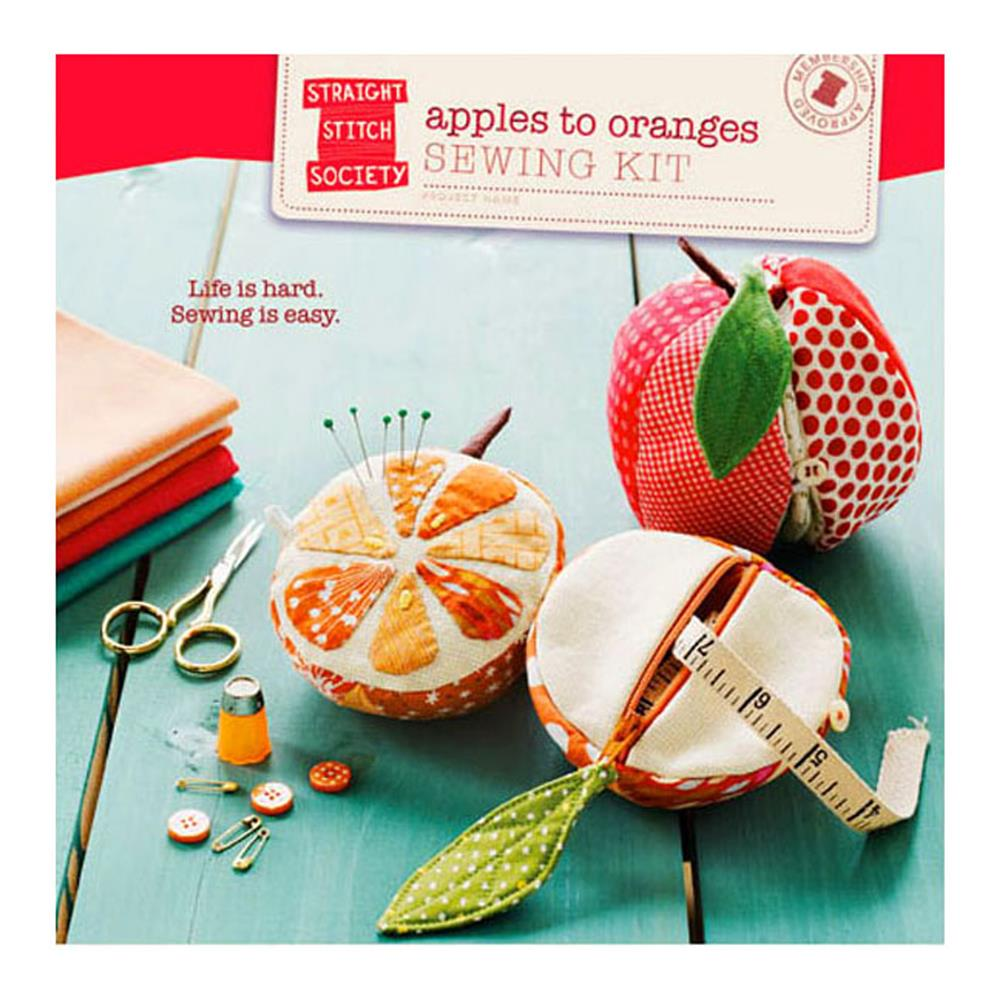 Straight Stitch Society Apples to Orange Sewing Kit