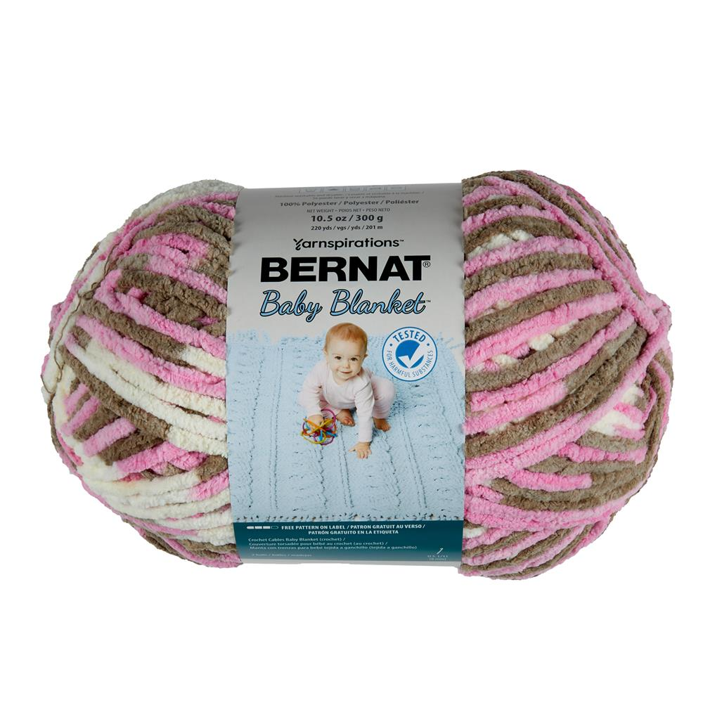 Bernat Baby Blanket  Big Ball Yarn (04418) Little Roses