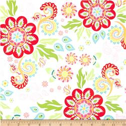 Riley Blake Madhuri Large Floral White