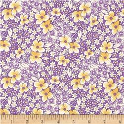 Pinafores & Petticoats Blooming Branches Purple