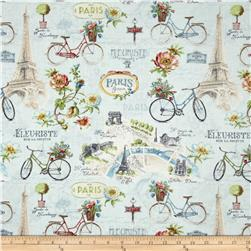 Paris Forever Large All Over Blue