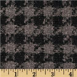 Night Tweed Houndstooth Sparkle Black/Grey