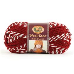 Lion Brand Wool-Ease Think & Quick Yarn Crimson