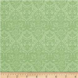Holiday Magic Damask Green