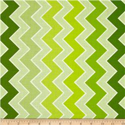 Riley Blake Medium Shaded Chevron Grasshopper Fabric