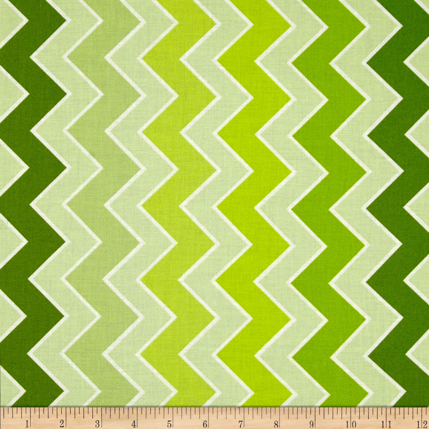 Riley Blake Medium Shaded Chevron Grasshopper
