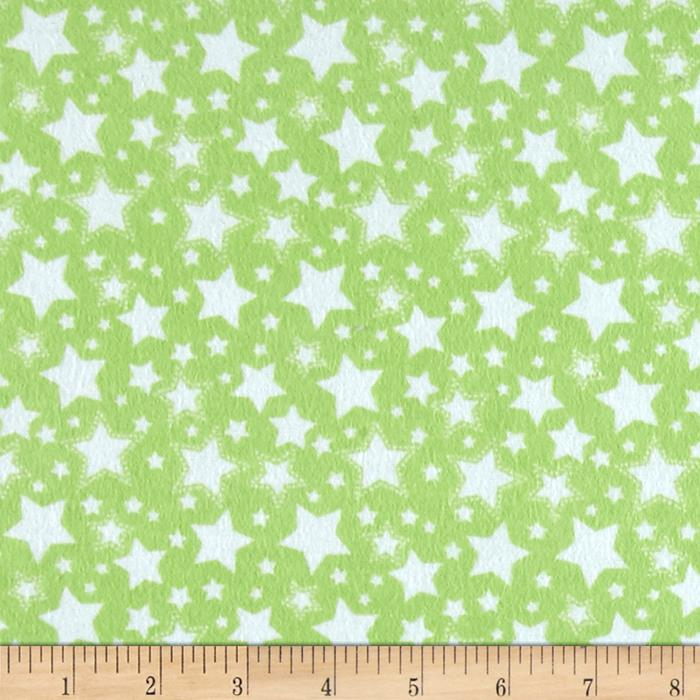 Dreamland Flannel Starry Night Green Apple