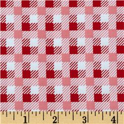 Bunny Tales Plaid Red