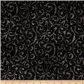 Timeless Treasures Shadow Chic Scroll Black