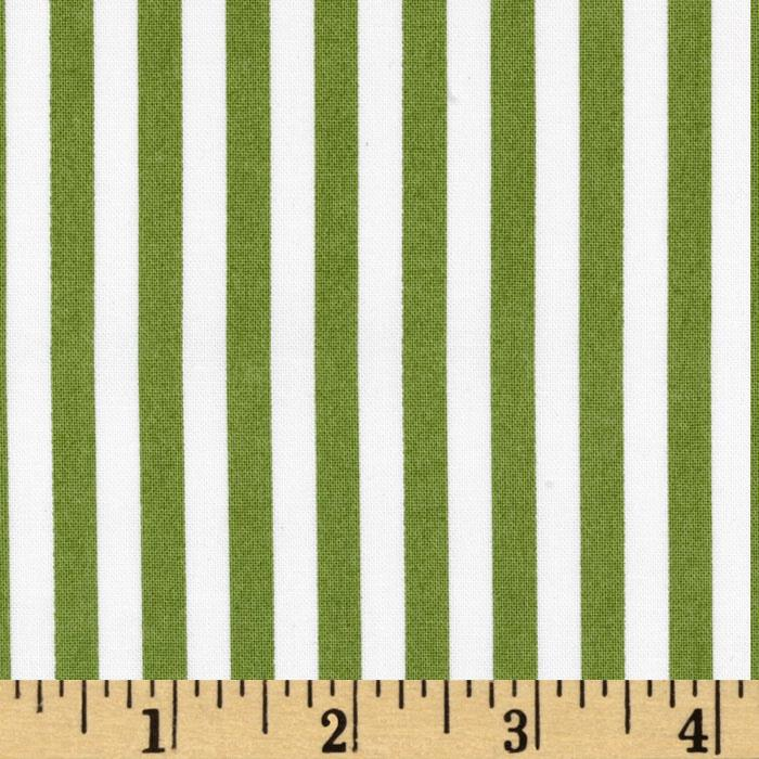 Michael Miller Clown Stripe Olive/White