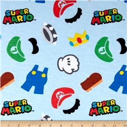Nintendo Super Mario World Flannel Clothes Icons Multi