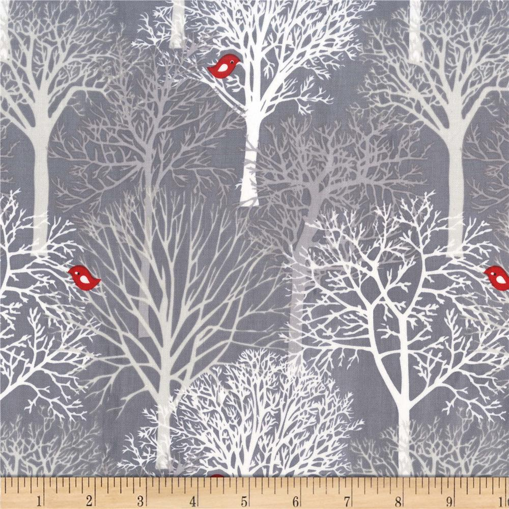 Michael Miller Woodland Winter Woodland Winter Winter Discount Designer Fabric