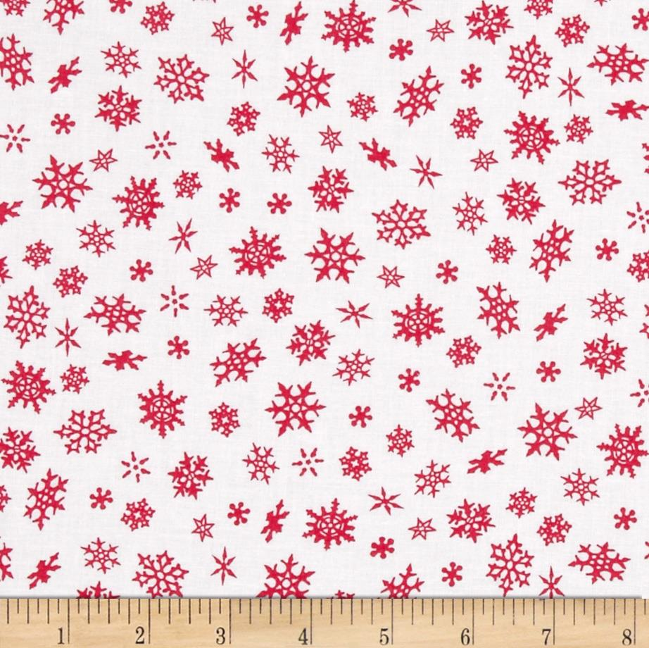 Elf on the Shelf Snowflakes White/Red