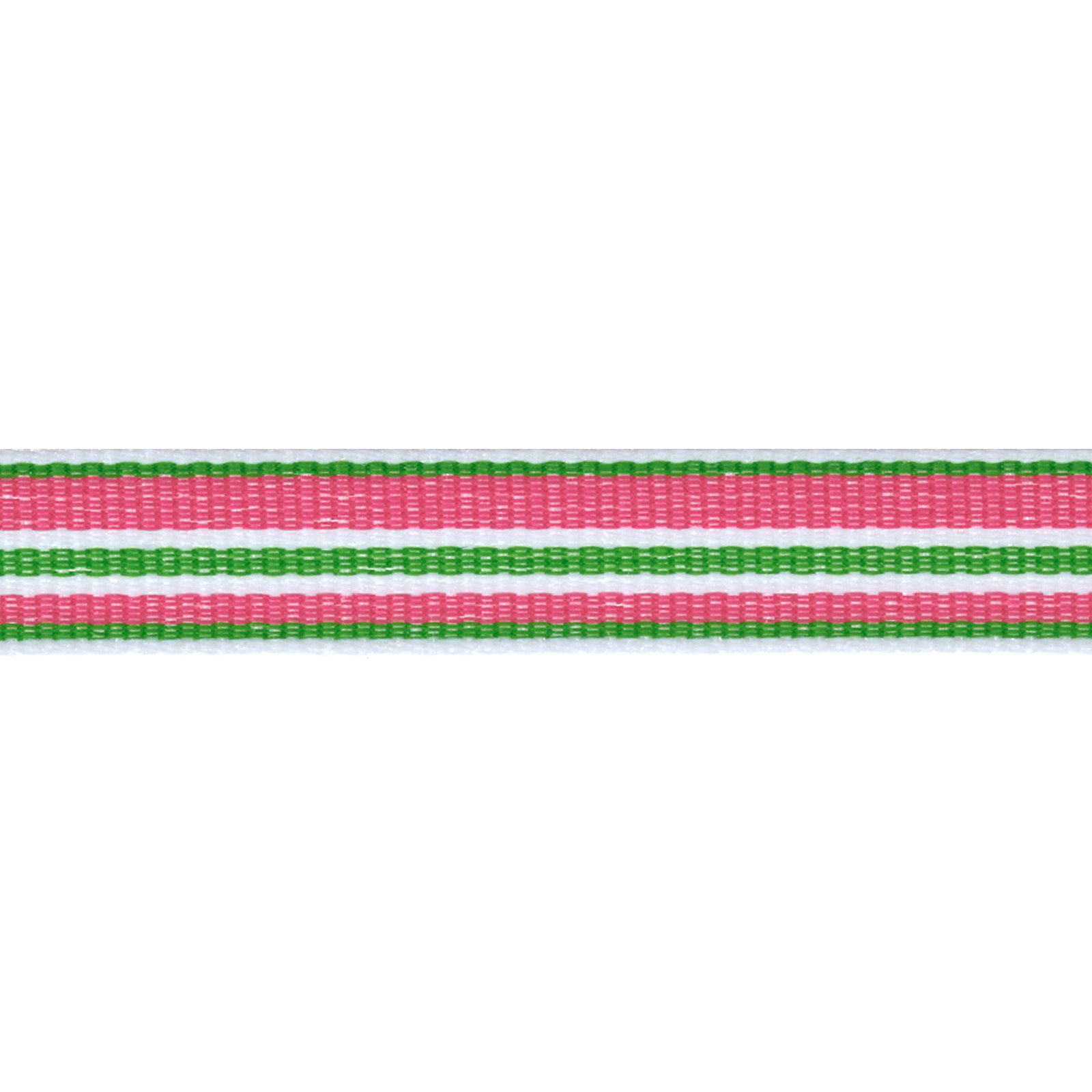 1/2'' Twill Tape Stripes Pink/Green/White