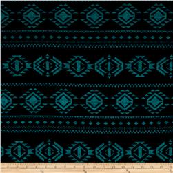 Hatchi Lightweight Sweater Knit Geo Diamonds Teal/Black