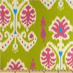 Home Accents Caftan Ikat Kiwi Green Fabric