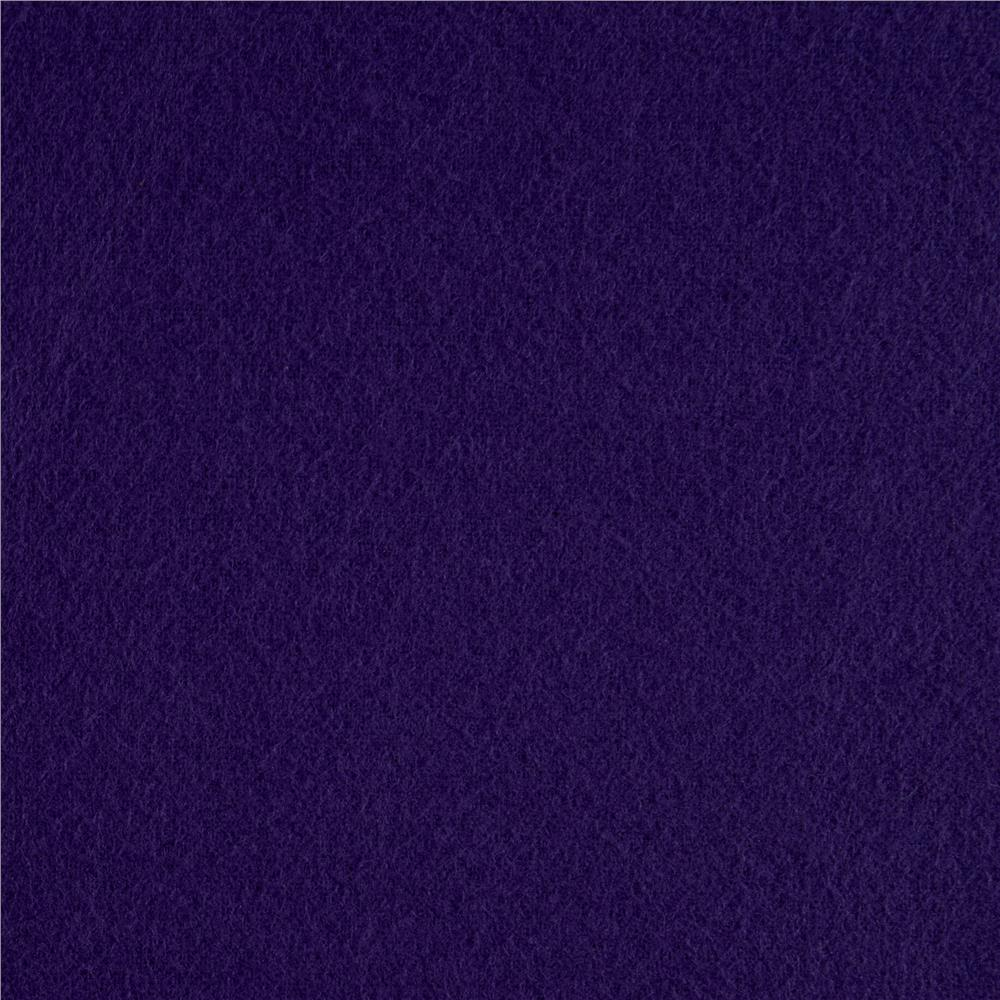 Kaufman Flannel Solid Eggplant Fabric