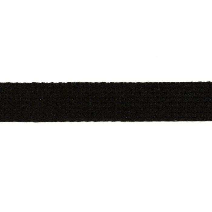 Cotton Webbing 1'' Black