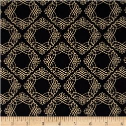 Christmas Joy Filigree Design Black