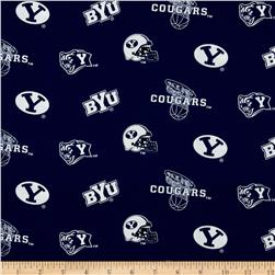 Collegiate Cotton Broadcloth Brigham Young University