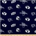 Collegiate Cotton Broadcloth Brigham Young University Blue