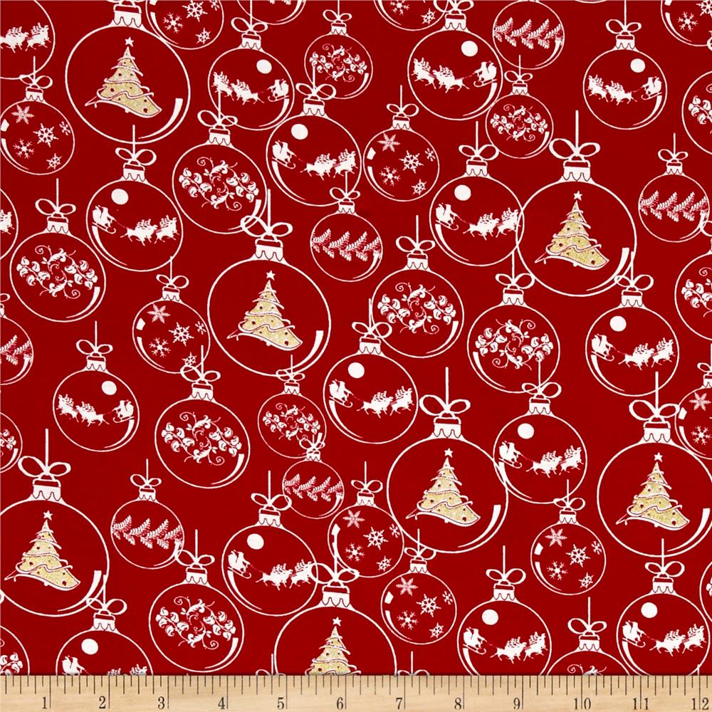 Christmas Novelties Ornaments Metallic Red