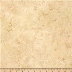 108'' Wide Tonga Batik Quilt Backing Viney Leaf Cream