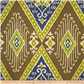 Iman Home Ikat Diamond Antique Velvet Lapis