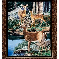 Cradle Rock Deer Wall 36 In. Panel Multi