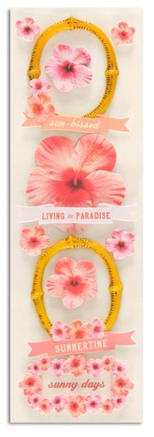 Martha Stewart Crafts Stickers Tropical Phrases & Frames