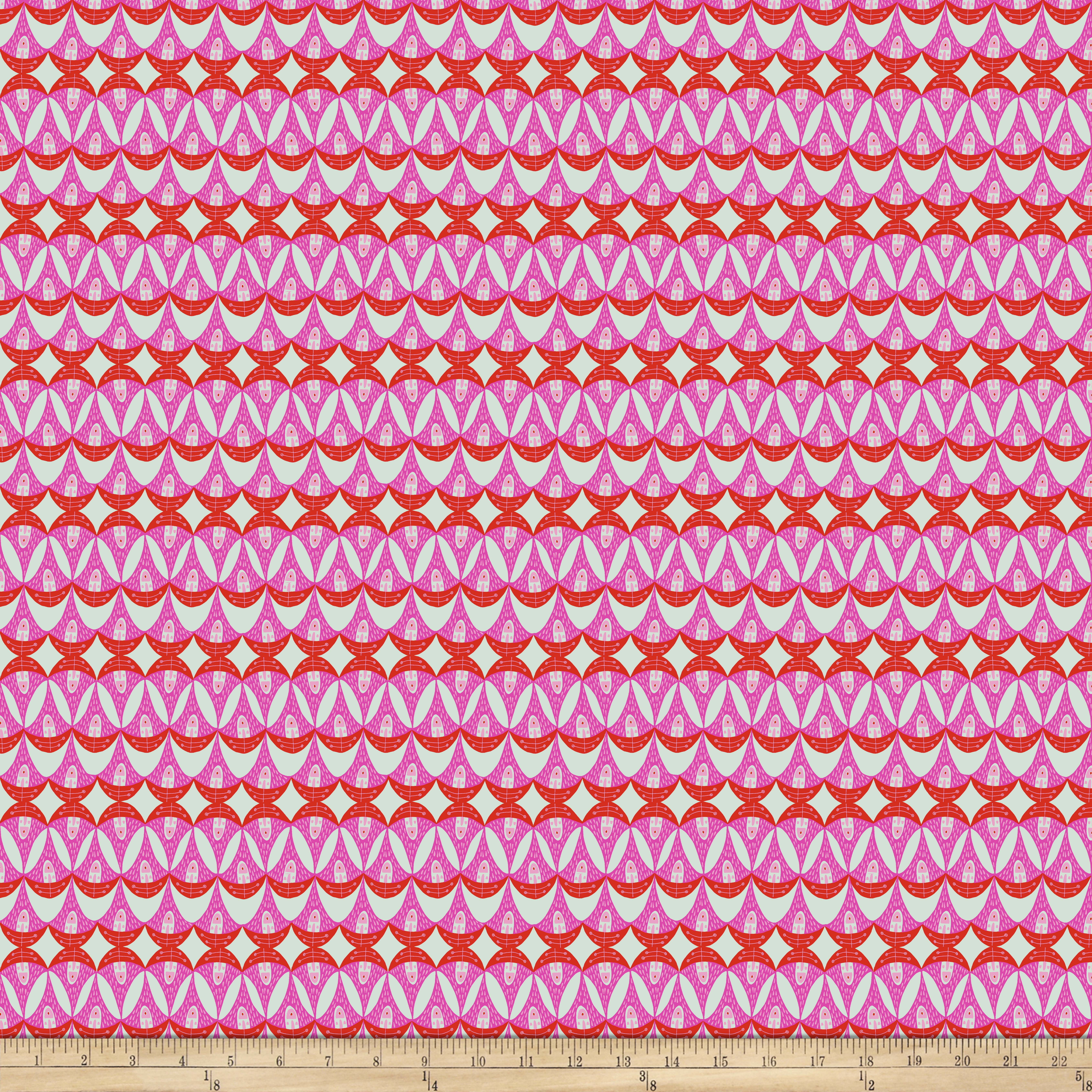 INOpets.com Anything for Pets Parents & Their Pets Garden Dreams Watermelon Pink Fabric