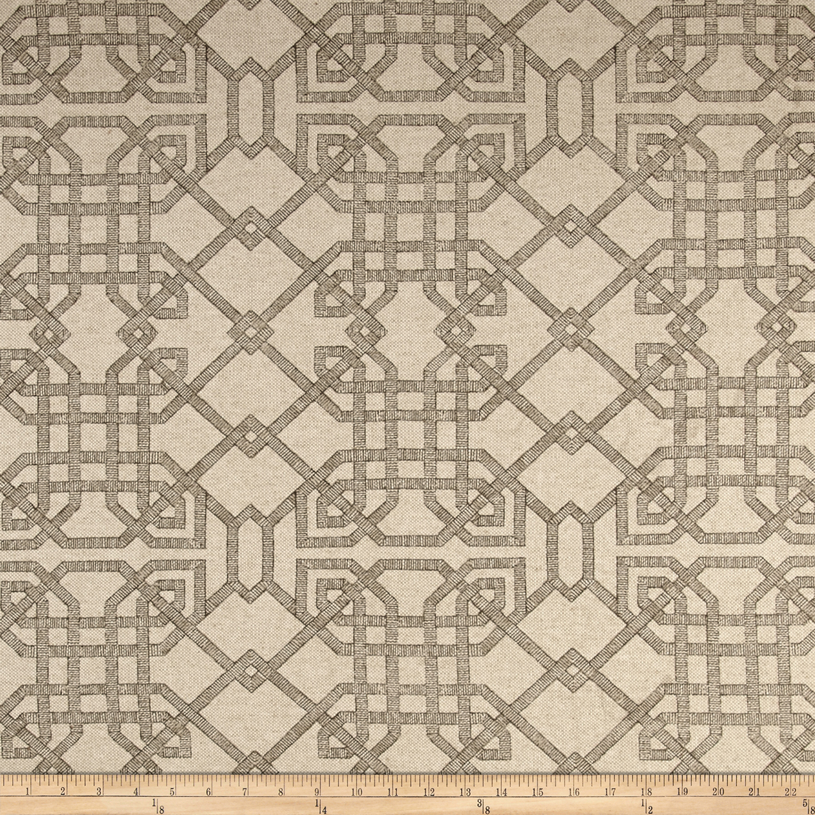 Lacefield Arbor Basketweave Stone Fabric by Lacefield in USA